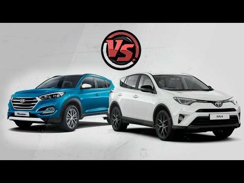 Hyundai Tucson 2016 vs Toyota Rav4. Видеообзор