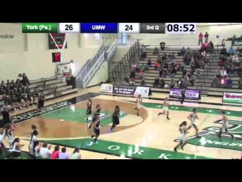 WBB: York vs Mary Washington Highlights - 12/12/15