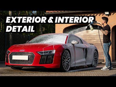Audi R8 V10 Exterior, Interior & Engine Bay Detail - Auto Detailing