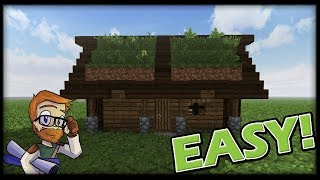 Minecraft Starter House :: 9x5 Mountain Starter House Tutorial