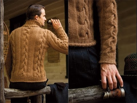 #1 Men's Cable Turtleneck, Vogue Knitting Winter 2010/11
