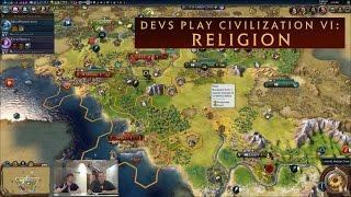CIVILIZATION VI - Devs Show Off Religion