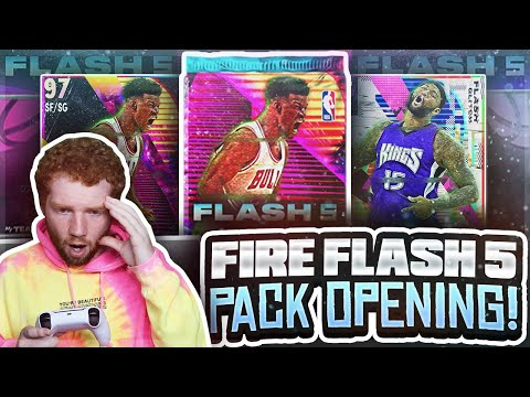 Fire *FLASH 5* PROMO Pack OPENING!! First PULLABLE Galaxy OPAL! (NBA 2K21 MyTeam)