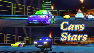 Disney Pixar Cars 2 : The Video Game, Race with WIngo and Tomber in 2 player split screen on Oil Rig Run.