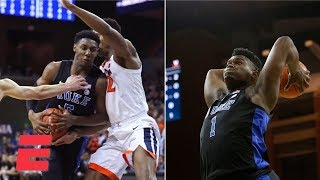 RJ Barrett and Zion Williamson lead Duke past Virginia | College Basketball Highlights