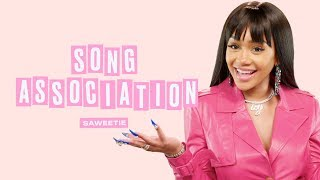 Saweetie Raps, Drake, Migos, and Travis Scott in a Game of Song Association | ELLE
