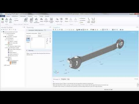 How to Model Stresses and Strains in a Wrench and Bolt Assembly