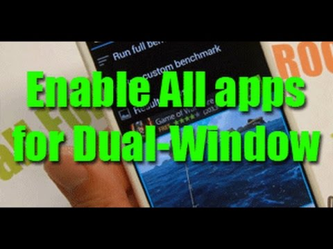 dual - Here's a quick step-by-step tutorial on how to enable all of your favorite apps for dual-window multi-window feature on your rooted LG G3! Step-by-step tutorial with photos here: http://lgg3root.c...