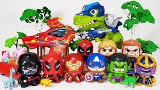 Video Marvel Avengers, Ben 10 vs Thanos~! Starwars Darth Vader, Spider Man, Hulk, Iron Man Toys Play MP3, 3GP, MP4, WEBM, AVI, FLV Juli 2018