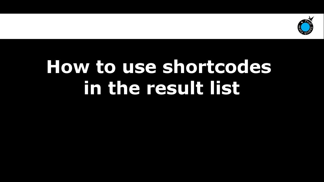 Activate shortcodes in the result list