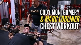 Marc Lobliner and Blackstone Labs athlete IFBB Pro Cody Montgomery train chest and also talk about how to train for the long term as a professional bodybuilder.Subscribe to Cody Montgomery: https://www.youtube.com/user/codymontgomery94Buy Blackstone Labs HERE! https://www.tigerfitness.com/Blackstone-Labs-s/1671.htmSupport Marc and Shop at http://www.tigerfitness.comSubscribe to this channel now! http://youtube.com/tigerfitness Related Videos:Kai Greene Marc Lobliner Back Overtraining FULL UNCUT RAW: https://www.youtube.com/watch?v=A_E9zt-kVN44x Mr. Olympia Phil Heath and Pro Bodybuilder Marc Lobliner CHEST TRAINING RAW AND UNEDITED: https://www.youtube.com/watch?v=WqTcfRrh-tUPRO CALIBER Chest and Arms with IFBB Pro Juan Morel: https://www.youtube.com/watch?v=RaY3NqgFO2YFacebook: http://www.facebook.com/tigerfitness and http://www.facebook.com/tigerfitnessonlineTwitter: https://twitter.com/MarcLobliner and https://twitter.com/tigerfitnesscomInstagram: https://www.instagram.com/marclobliner/ and https://www.instagram.com/tigerfitness/ I am Marc Lobliner, CEO of MTS Nutrition. MTS Nutrition is more than just a supplement line to me. It's my story. It has a meaning and a purpose. Each MTS Nutrition product embodies my passion for health and fitness, and echoes the struggles of my past and the lives that my products help to change on a daily basis.  Business Inquiries: Email marc@mtsnutrition.com