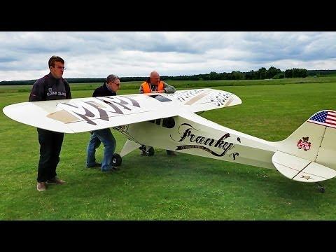Giant RC Piper Cub , 35 PS 5,50m Wingspan , Flight Demonstration , Ragow 2014 *HD*