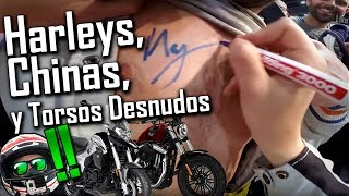 HARLEYS CHINAS sin FRENOS y TORSOS  Salón vive la Moto 2018