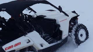 8. Playing in the snow 2018 Can Am Commander