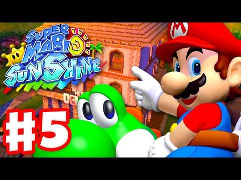 Super Mario Sunshine - Gameplay Walkthrough Part 5 - Sirena Beach 100%! (Super Mario 3D All Stars)