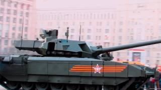 Dumps tower at T-14 Armata on the Victory Parade