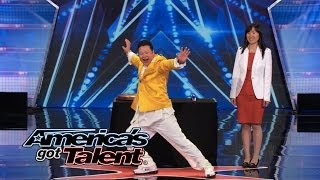 Nick Cannon Kicks Kung Fu Master- America's Got Talent 2014