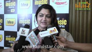 Khushboo at Mirchi Music Awards 2013 Curtain Raiser