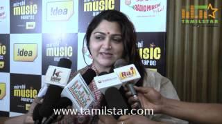 Khushboo at Mirchi Music Awards 2013 Curtain Raiser