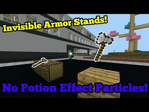 ✔How To Make An Armor Stand Invisible///4 Tricks! |Minecraft PE
