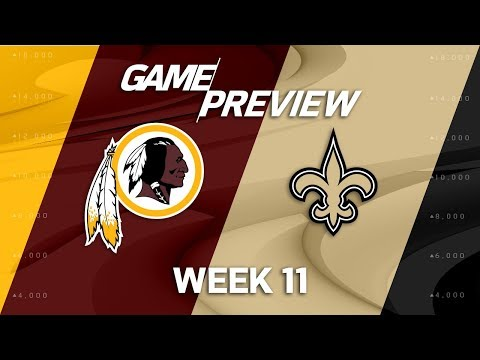 Video: Washington Redskins vs. New Orleans Saints | NFL Week 11 Game Preview | Move the Sticks