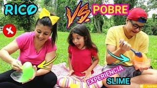 RICO VS POBRE FAZENDO AMOEBA / SLIME #11 - DEU ERRADO ?? ANNY E EU