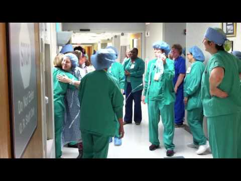 Stockbridge GA woman (Doreta Norris) facing double mastectomy dances her fear away on her way to surgery!