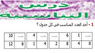 الرياضيات السادسة إبتدائي - التناسبية (2) تمرين 2