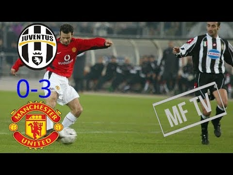 Juventus Vs Manchester United 0-3 Highlights & Goals | English Commentary Champion League 2003 | HD