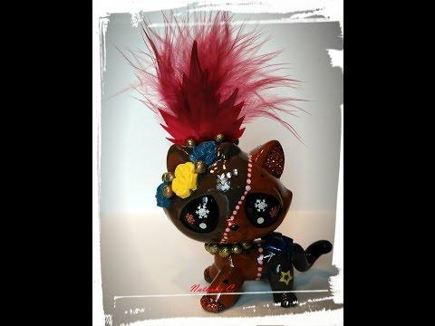 Timelapse custom chat de gouttière plume festif petshop lps personnalisé ʘ‿ʘ