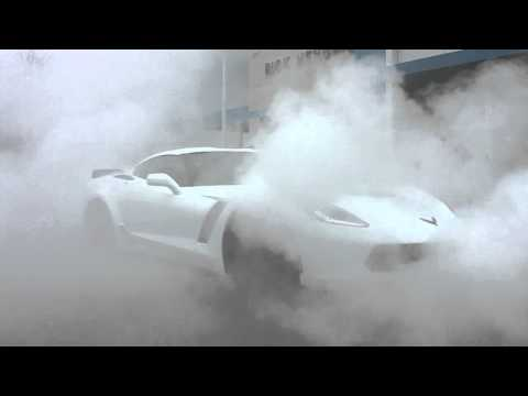 Vengeance Racing 2015 C7 Z06 Obligatory Dealership delivery burn out!!!