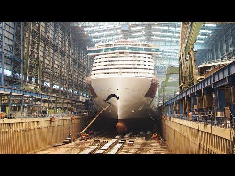 Сборка круизного лайнера AIDA Nova