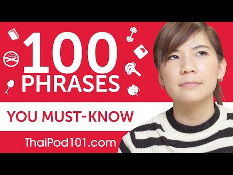 100 Phrases Every Thai Beginner Must-Know