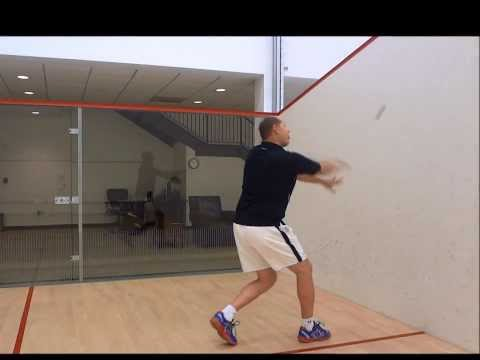 Squash – Returning a Serve