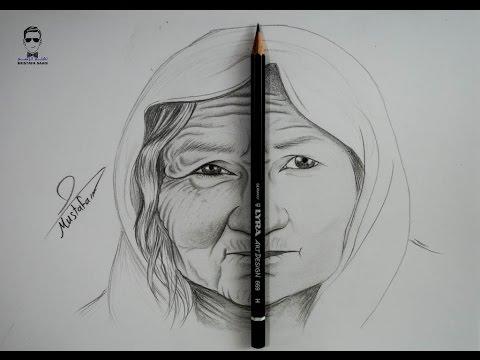 تعلم رسم تجاعيد الوجه لكبار السن