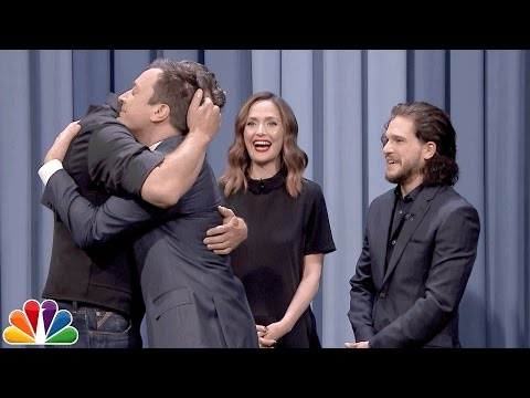 Tonight Show Charades with Kit Harington Rose Byrne and Blake