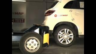 Crash test trasero Mitsubishi Asx en Cesvimap