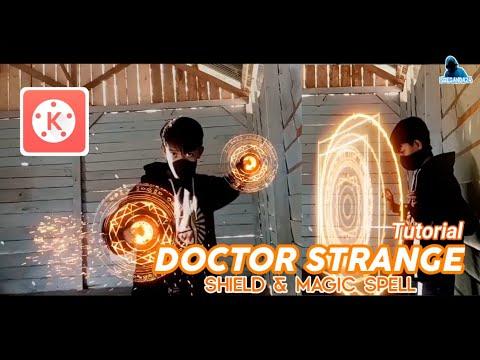 Tutorial Kinemaster Effect Shield dan Magic spell Doctor strange