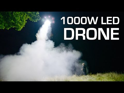 1000W LED On A Drone