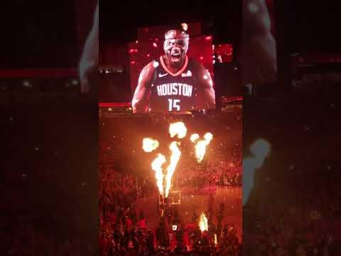 Rockets vs jazz Player intros Game 1 2019 playoffs