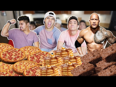 THE ROCK'S 14,000 CALORIE CHEAT MEAL CHALLENGE!