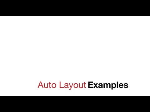 Auto Layout Examples