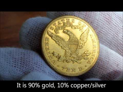 1900 Gold United States Ten Dollar Coin,