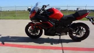 9. SALE $5,999:  2016 Kawasaki Ninja 650 ABS Candy Persimmon Red Overview and Review