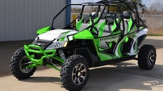 2. 2014 Arctic Cat Wildcat 4X Team Arctic Green Overview and Review $20,999
