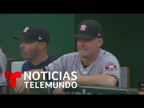 Suspenden al dirigente y gerente de Los Astros de Houston por robo de señales | Noticias Telemundo