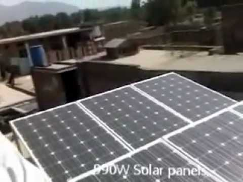 1kW Home solar power setup in KPK Pakistan