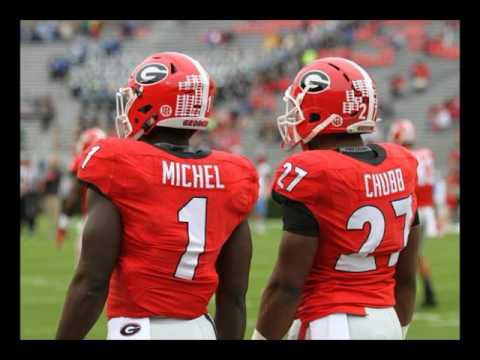 Nick Chubb & Sony Michel will be a dynamic running back duo for George in 2017 (видео)