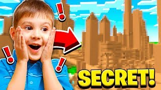 SNEAKING INTO MY LITTLE BROTHERS *SECRET* MINECRAFT WORLD!