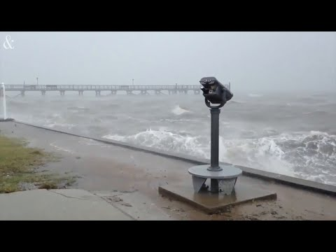 Florence batters the Southport waterfront